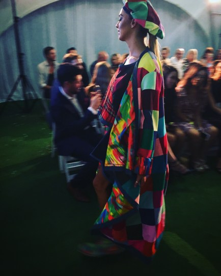 An explosion of colour, tartan and crochet from P'Junk by Kate Hannah