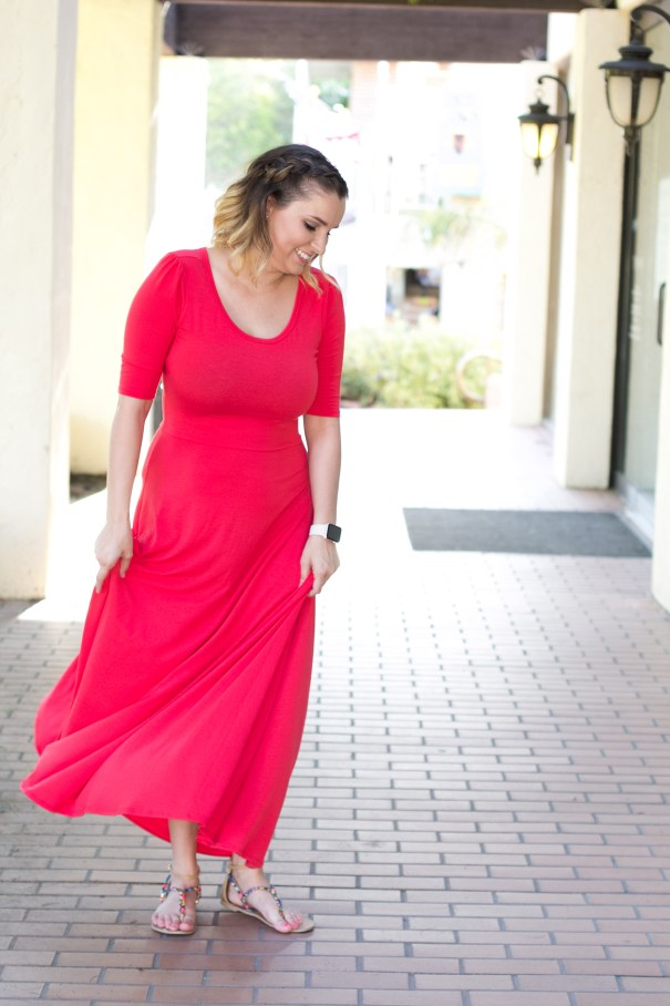 red maxi lularoe dress - style for all occasions