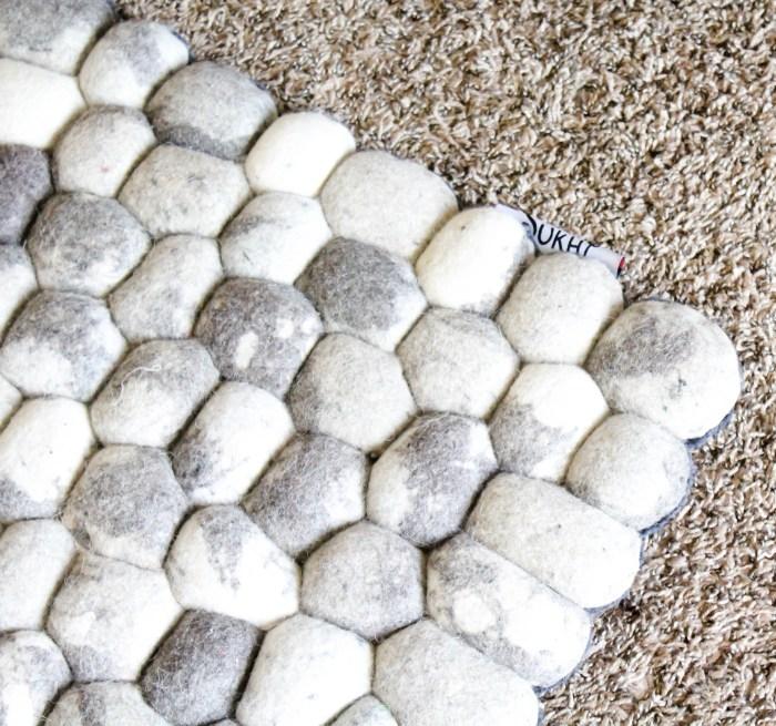 Sukhi Rugs - Master Bedroom- handmade felt ball rug