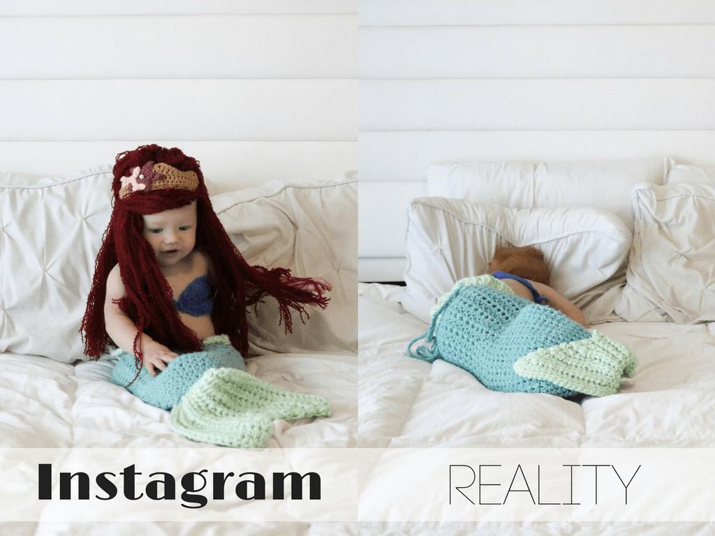 @positivelyoakes instagram vs reality