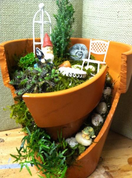 Broken Pot Fairy/Gnome Home