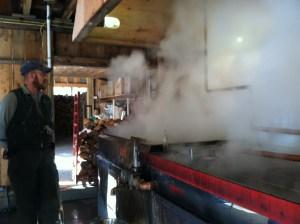 An evaporator produces a lot of smoke