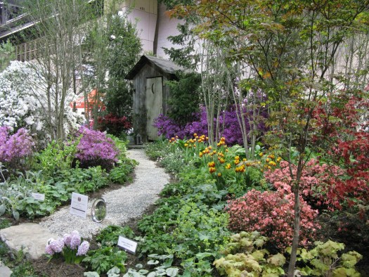 Beautiful woodland setting at one of the landscaped gardens