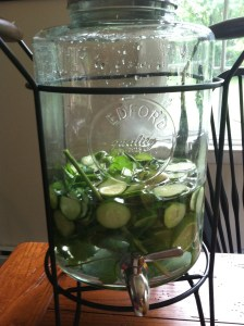 Almost out of cucumber and lime water
