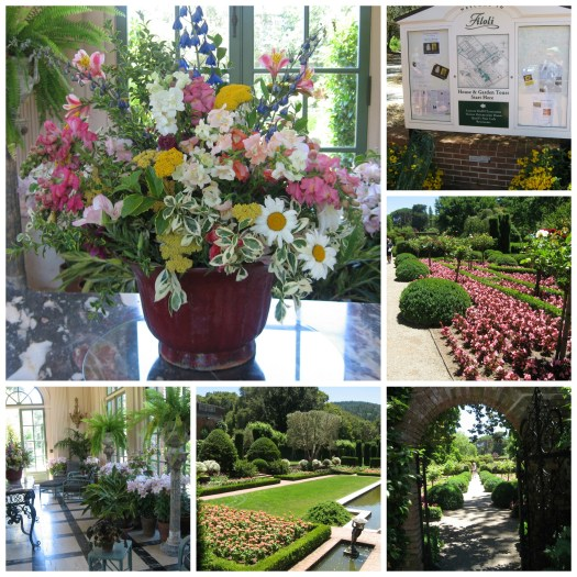 Scenes from the gardens and house at Filoli