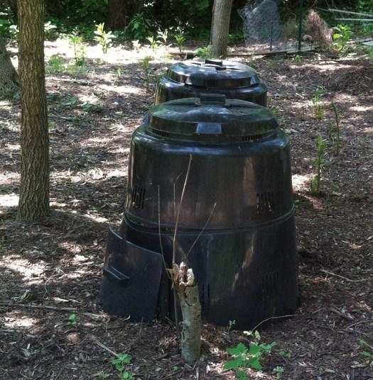 Enclosed compost bins