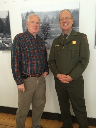 John Collins of WBAL and Paul Bitzel of the Park Service
