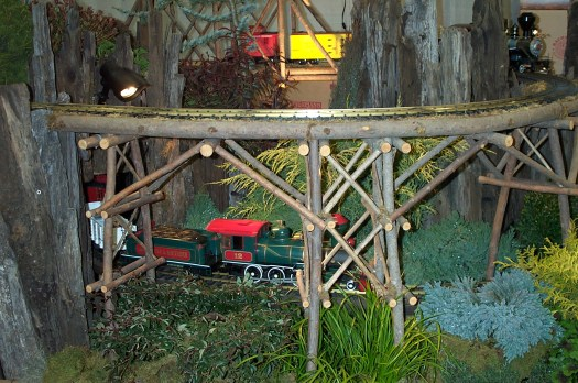 Mini train garden at Philadelphia Flower Show