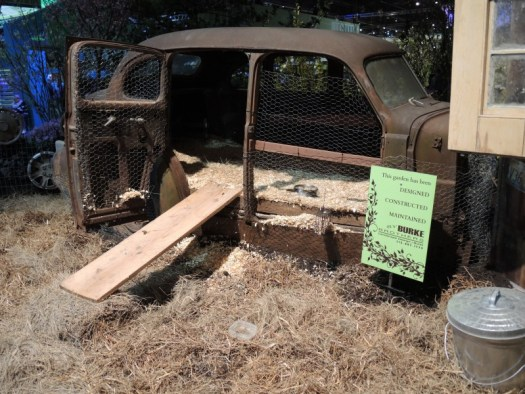 "Chicken coop made out of an old car for 'Cars"" movie"