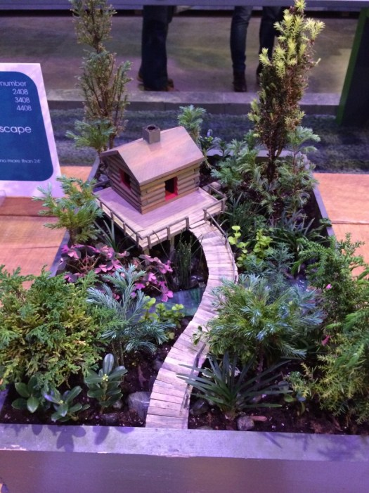 Log cabin in the woods mini garden