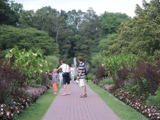 Longwood's borders are chock full of annuals, perennials, and shrubs