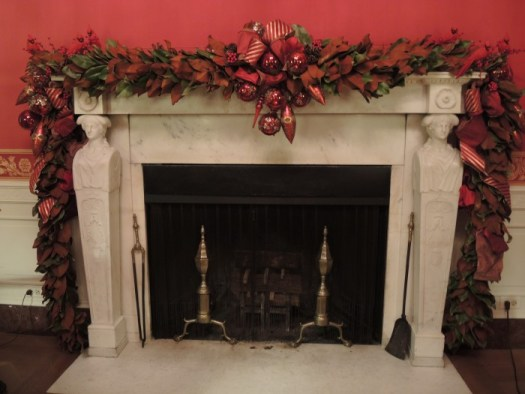 Red Room Mantel