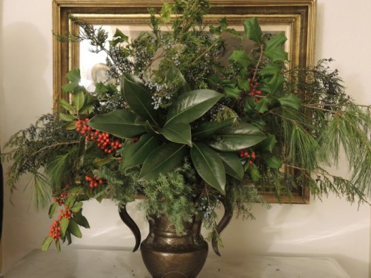 One of the many garden club arrangements
