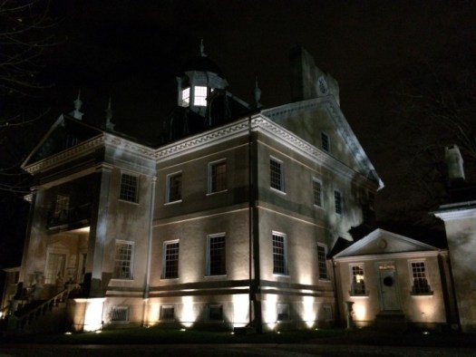 Hampton Mansion all lit up for a festive Yuletide night