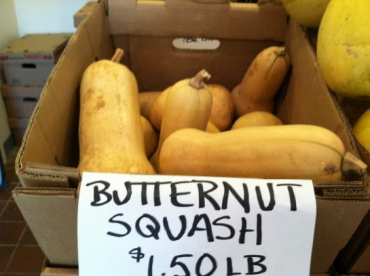 Butternut squash at a farmers market