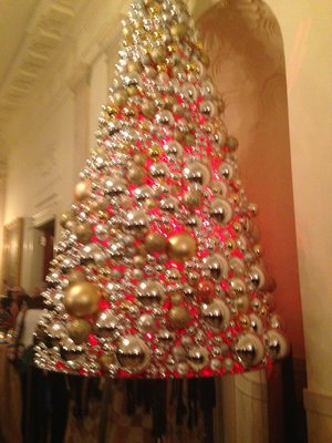 Gold and silver tree in Cross Hall, picture Linda Foley Vodney