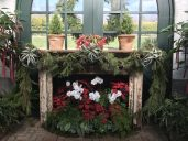 Beautiful mantel in the conservatory