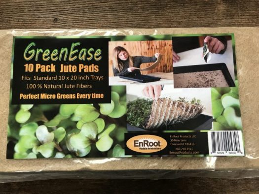 Green Ease jute pads are perfect for microgreens