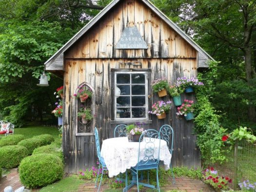 A potting shed can become a retreat