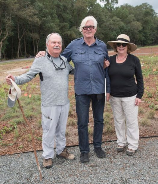 Left to right: Raymond J. Sandler, President of DBG, Piet Oudolf, and Sheryl Swed, Executive Director of DBG, photo by Ray Bojarski
