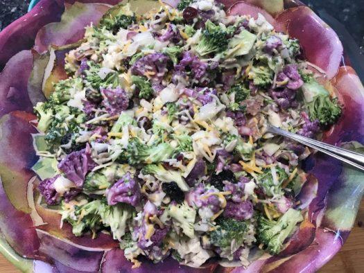 Broccoli/Cauliflower Salad