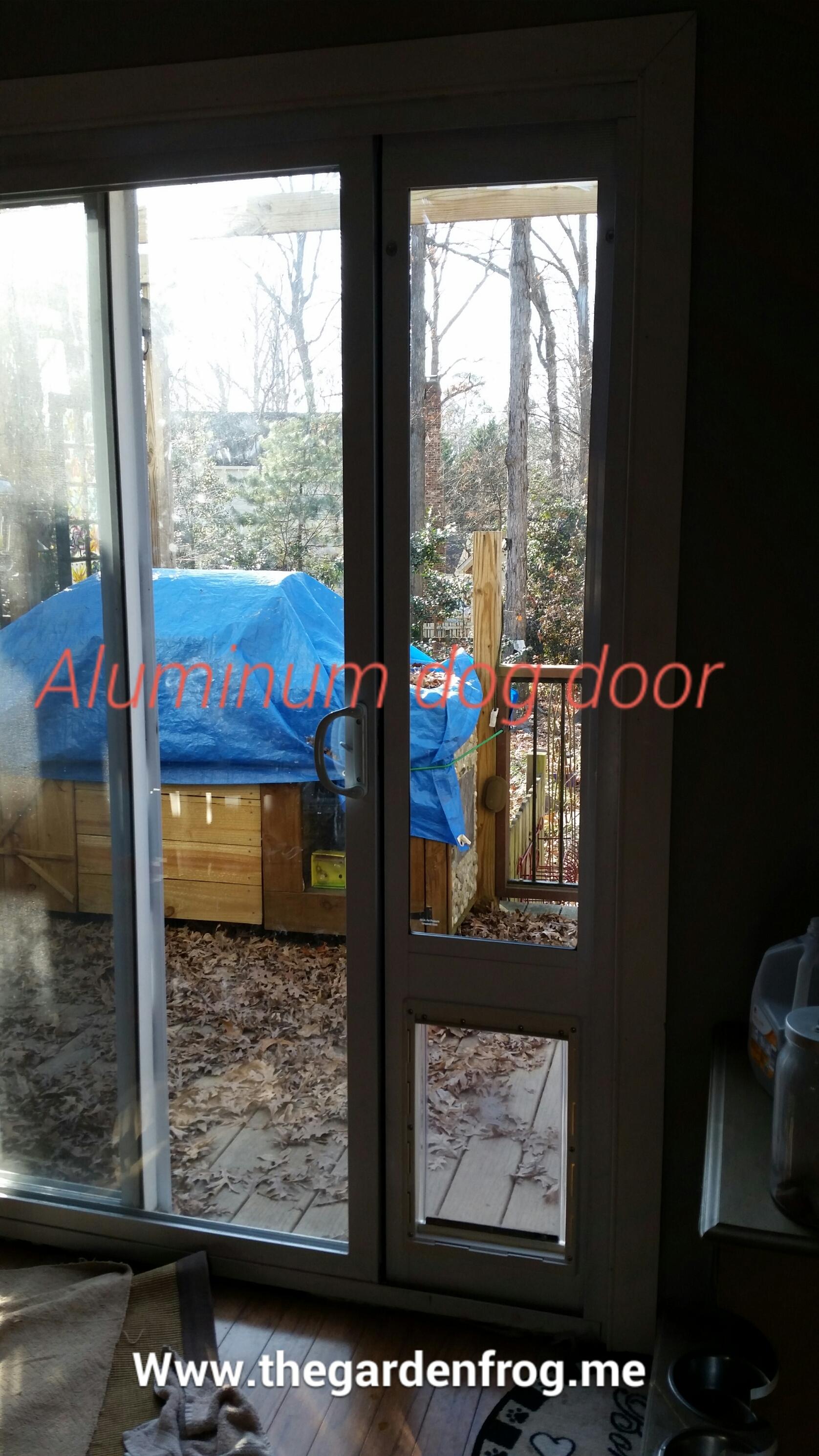 modify an aluminum ideal pet patio door
