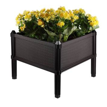 t4u plastic raised garden bed
