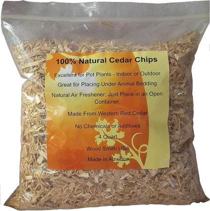 Wood Smith Natural Cedar Chips Mulch