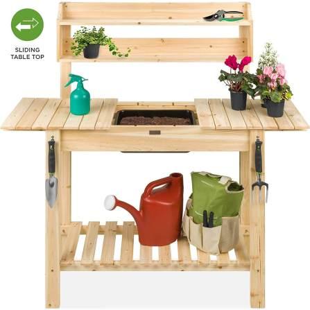 Best Choice Sliding Tabletop Potting Bench