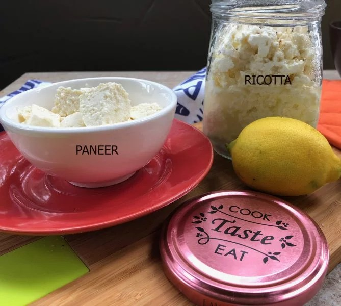 3 Ingredient Ricotta and Paneer Recipe