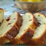 Lemon Cranberry Glazed Loaf