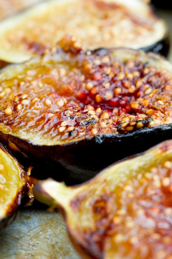 Grilled Figs with Creme Fraiche and Chestnut Honey-9