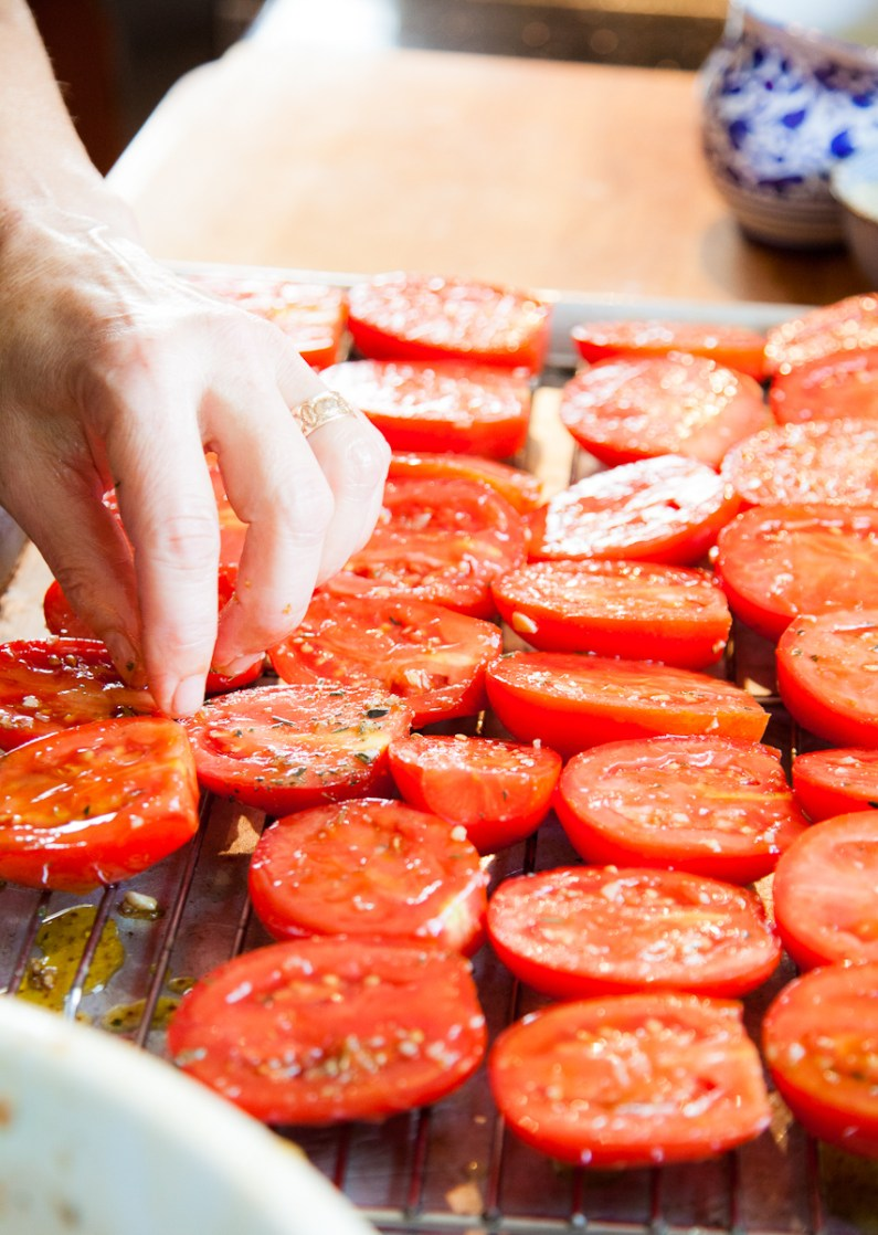 Slow-Roasted Plum Tomatoes with Herb Salt-11