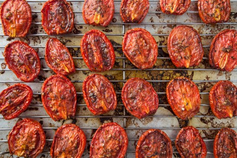 Slow-Roasted Plum Tomatoes with Herb Salt-13