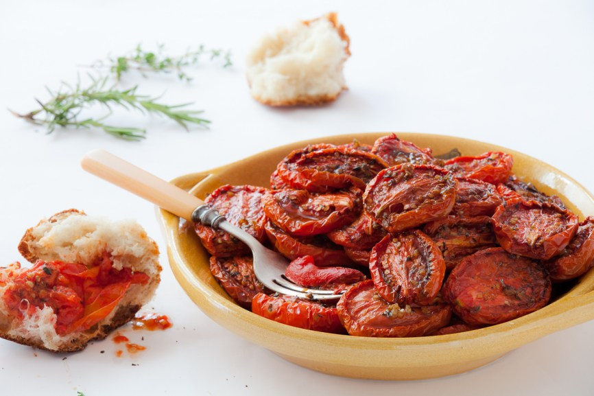 Slow-Roasted Plum Tomatoes with Herb Salt-3