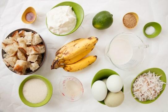 Coconut Banana Lime Bread Pudding TGF-3
