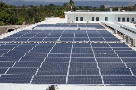 HUM rooftop solar array.