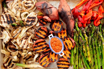 Grilled Spring Onions with Romesco TGF-2