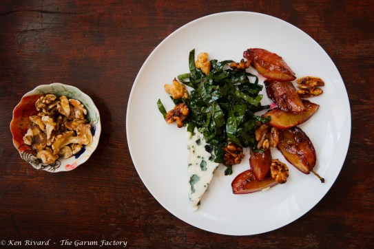 Kale Salad with Plums, Roquefort and Walnuts-9024