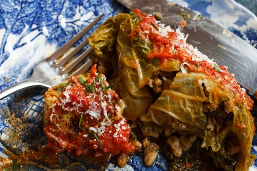 Stuffed Cabbage with Farro, Mushrooms and Chicken Livers-36-10685
