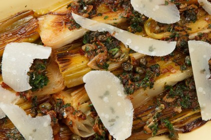 Braised Leeks with Meyer Lemon, Pancetta and Parmigiano Reggiano -3