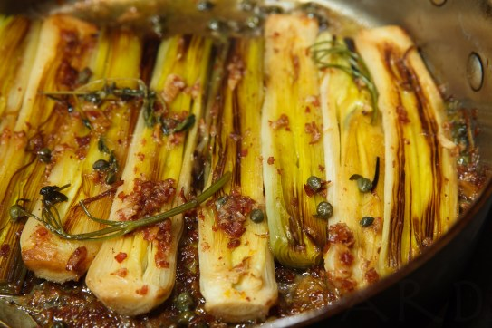 Braised Leeks with Meyer Lemon, Pancetta and Parmigiano Reggiano -47