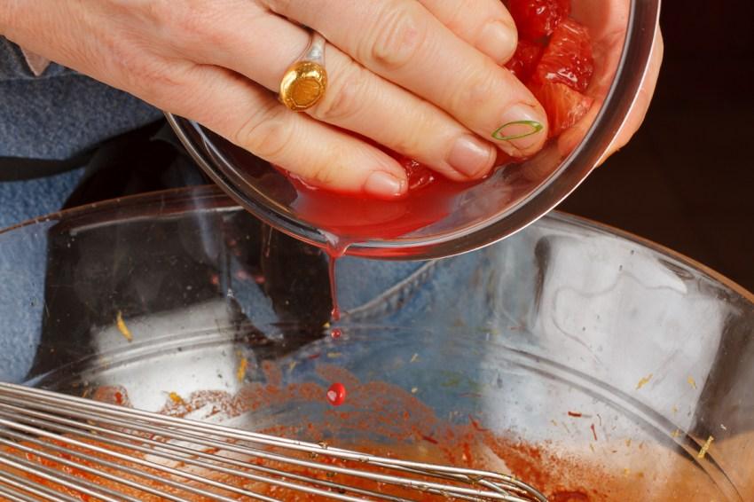Spanish Mackerel, Saffron and Honey with Fennel - Blood Orange Salad-34