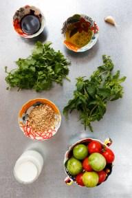 Bluefish with Dukkah, Tomatoes and Garlic Yogurt-3