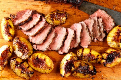 Grilled Duck Breast with Peaches-8480