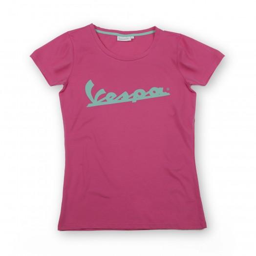 T-SHIRT WOMAN VESPA COLORS Pink