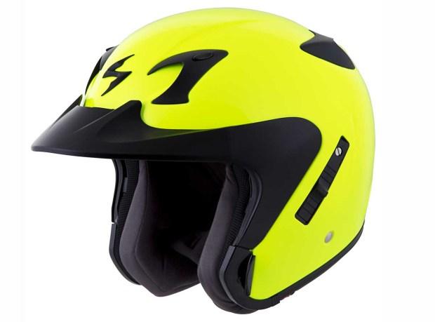 Hi-viz Helmet - Scorpion EXO-CT220 Hi Viz Helmet