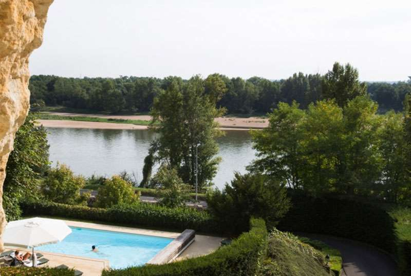 There are magnificent views over the Loire