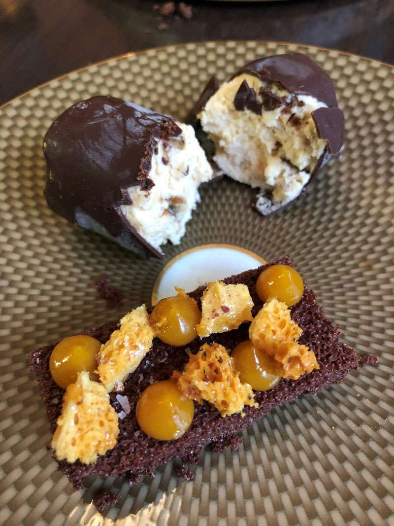 Brown butter choc ice