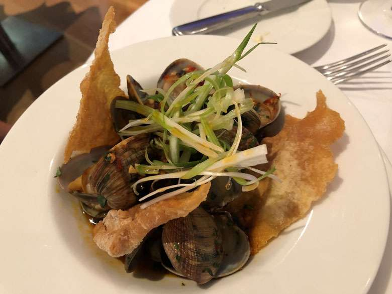 A starter of clams
